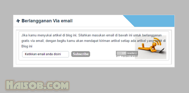 Cara membuat Widget Email Subcribe Feedburner di bawah postingan blog