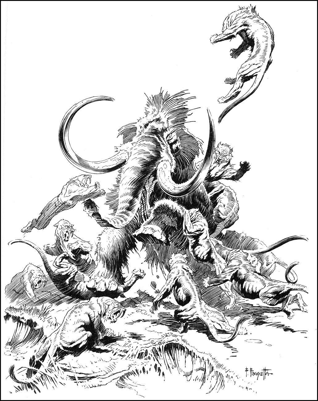 Cap N S Comics Tarzan At The Earth S Core By Frank Frazetta