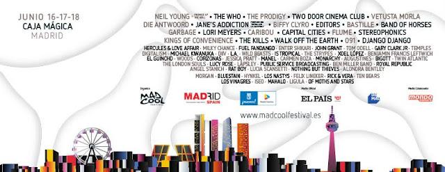 Mad Cool, Festival, 2016, Madrid, Guía Práctica, cartel