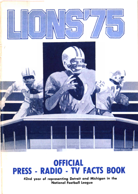 The Lions First Media Guide at 'Pontiac Metropolitan Stadium'