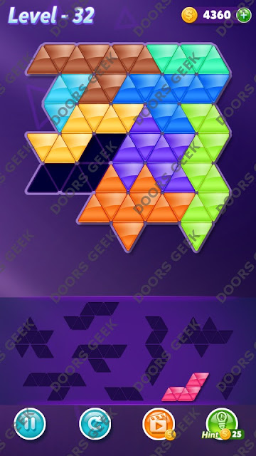 Block! Triangle Puzzle Proficient Level 32 Solution, Cheats, Walkthrough for Android, iPhone, iPad and iPod