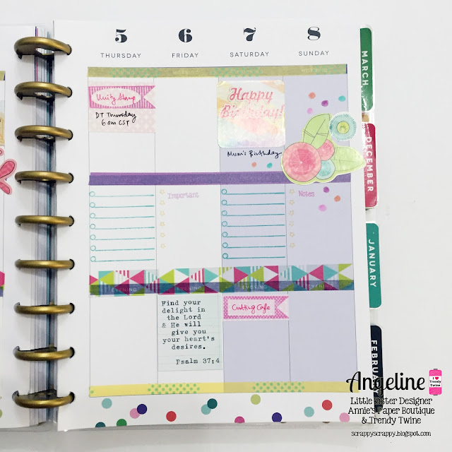 ScrappyScrappy: Happy planner layout - November #scrappyscrappy #trendytwine #stamp #planner #plannerstamp #happyplanner #washi