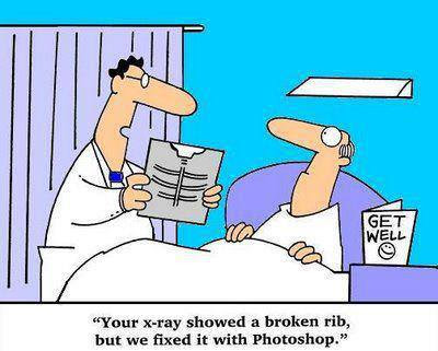 funny doctor photoshop fixed rib cartoon joke picture