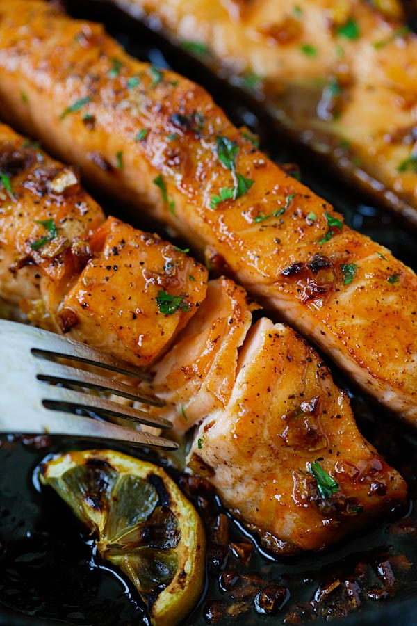 Honey Garlic Salmon #Recipe