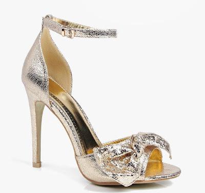 como hacer unos zapatos dorados