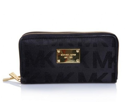 Michael Kors Outlet Continental Logo Wallet Dark