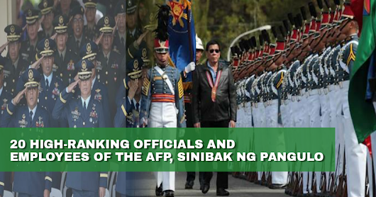 Pres. Duterte fires ranking military officials over corruption - GET IN
