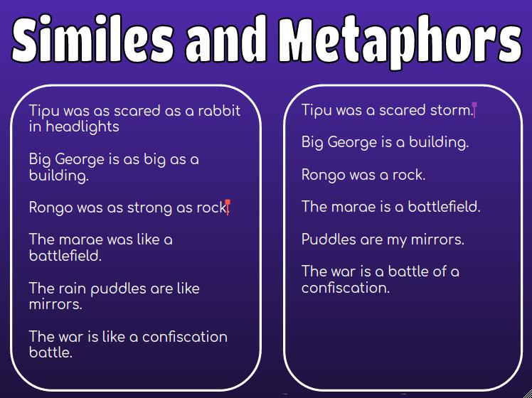 Sky Panmure Bridge School Similes And Metaphors