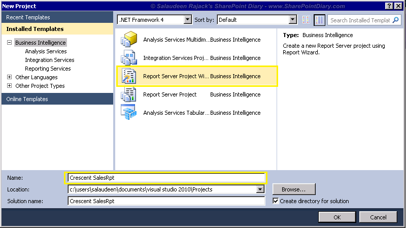 create SSRS report for SharePoint 2013