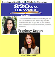 Michelle Mendoza, Erika Grey Prophecy Report live from Seattle The Word