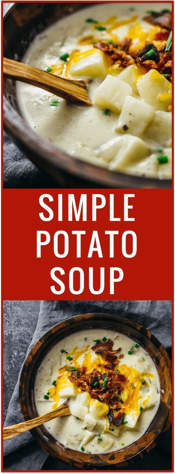 Creamy Potato Soup With Bacon And Cheese