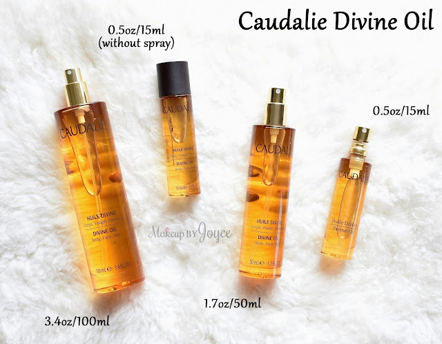 Caudalie Divine Oil Review Spray Limited Edition Travel Size 3.4 1.7 0.5