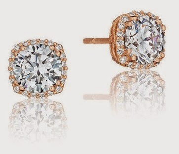 18K Pink Gold .18ct Diamond Studs