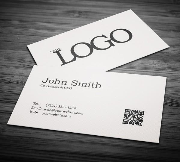 free minimal business card psd template  freebies psd