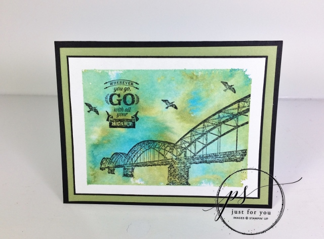 Wherever You Go, Watercolor background, FREE PDF, Stampin'Up!