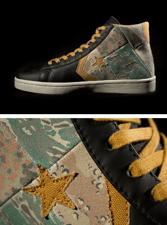 Here is a look via HB at the Stussy NYC x Converse First String Pro Leather