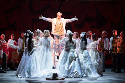 Rimsky Korsakov - The Snow Maiden - Opera North - Heather Lowe, chorus of Opera North - photo Richard Hubert Smith