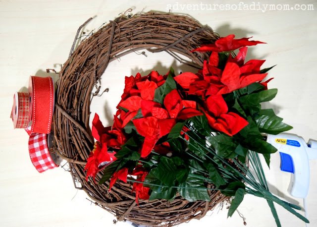 supplies needed for poinsettia wreath