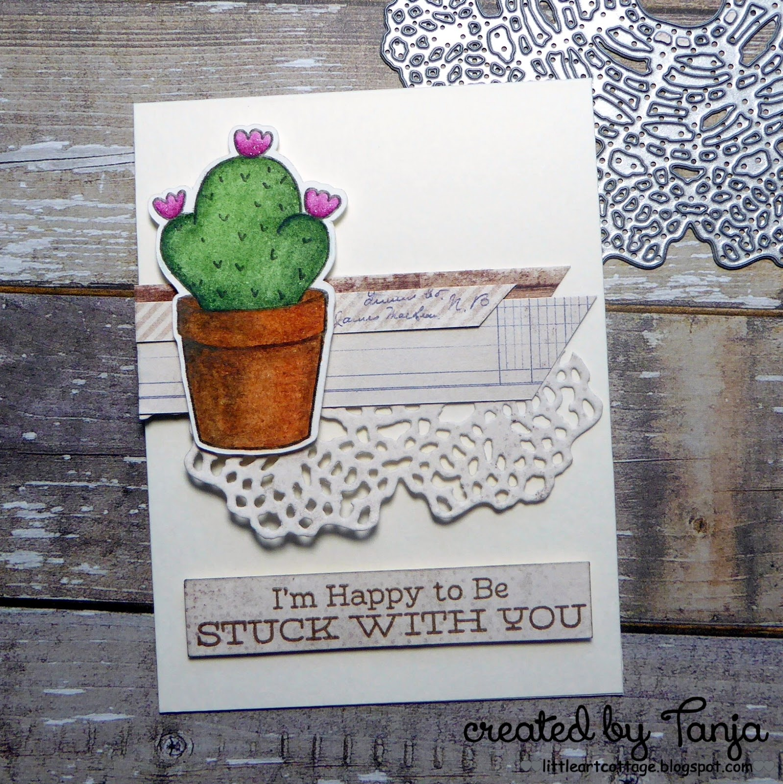 Color The Cactus From Gerda Steiner Designs Kitten In Flowerpot Image Which Is Available As Part Of Spring Digital Stamp