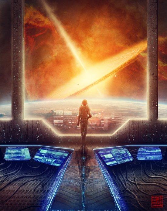 Julian Faylona deviantart ilustrações paisagens espaciais ficção científica