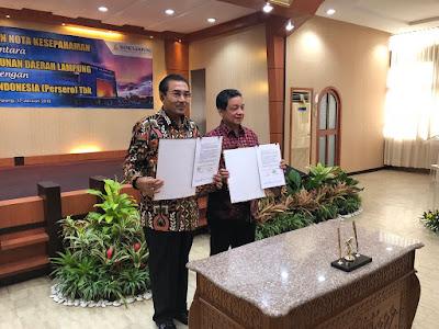 Bank Lampung Jalin Kerja Sama Dengan Bank BRI