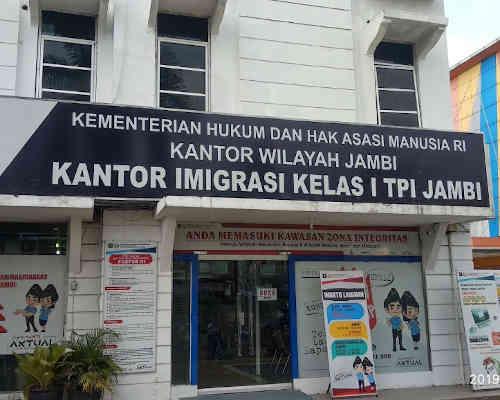 Alamat Telepon antor Imigrasi Kelas I TPI Jambi