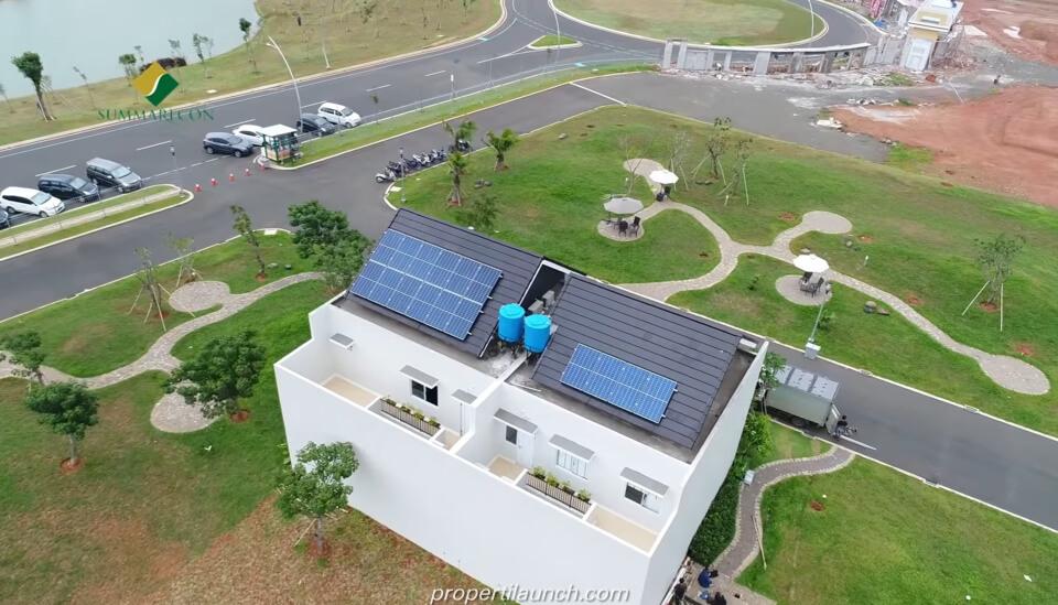 Solar Panel Rumah Mozart Summarecon Serpong