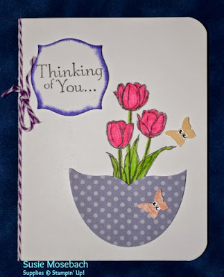 http://stampwithtrude.blogspot.com Stampin' Up! Easter card by Susie Mosebach Blessed Easter stamp set