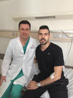 Τα βλαστοκύτταρα έσωσαν την καριέρα του διεθνή μπασκετμπολίστα Κώστα Σλούκα...