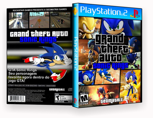 DVD PS2 – GTA Sonic Rings PS2 – ISO
