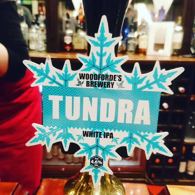Norfolk Craft Beer Review: Tundra from Woodforde's Brewery real ale pump clip