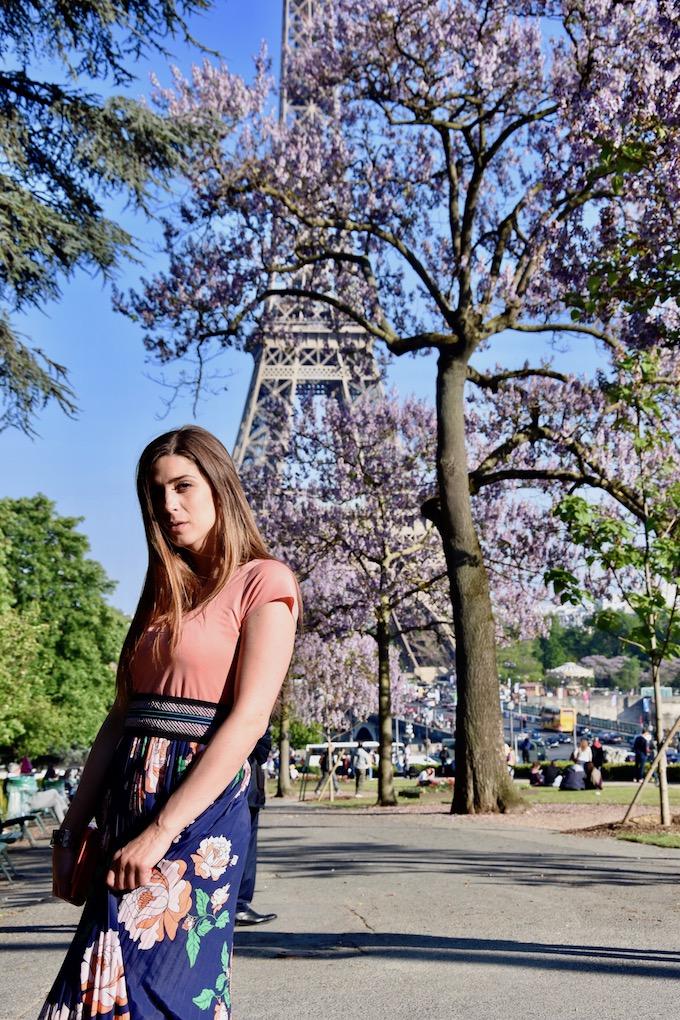 Parigi: un maxi-dress a fiori