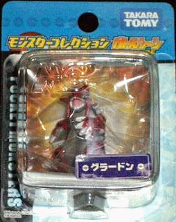 Groudon figure Takara Tomy Monster Collection Battle Scene series