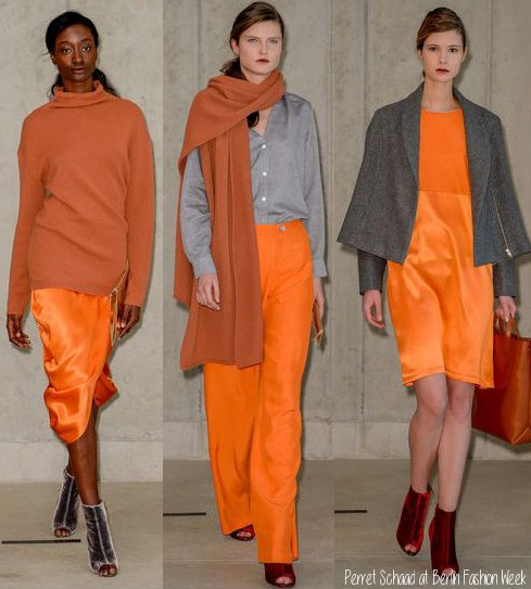 orange is the new black, perret schaad, berlin fashion week, fashion trends