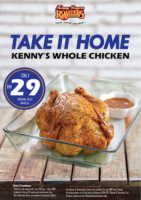 Kenny Rogers ROASTERS Whole Chicken Discount Offer Promo