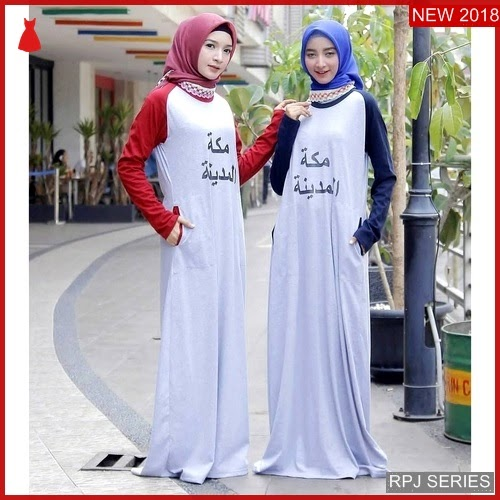 RPJ157D196 Model Dress Mekkah Cantik Madinah Wanita