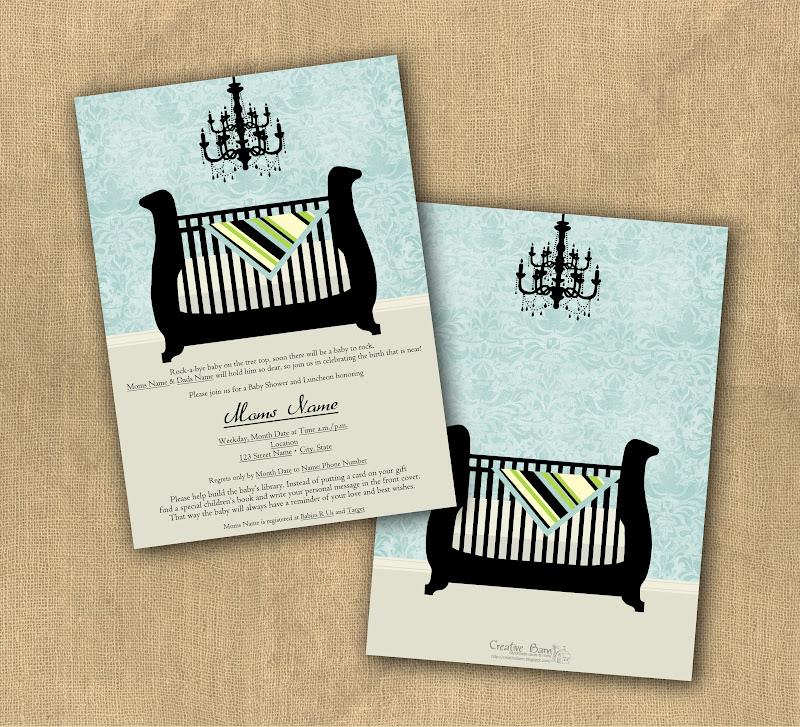 Creative Barn: Baby Shower Invitation Samples
