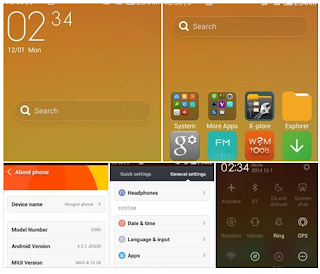 Cusrom MIUI V6 MODs Mtk6572 ThemeOnly