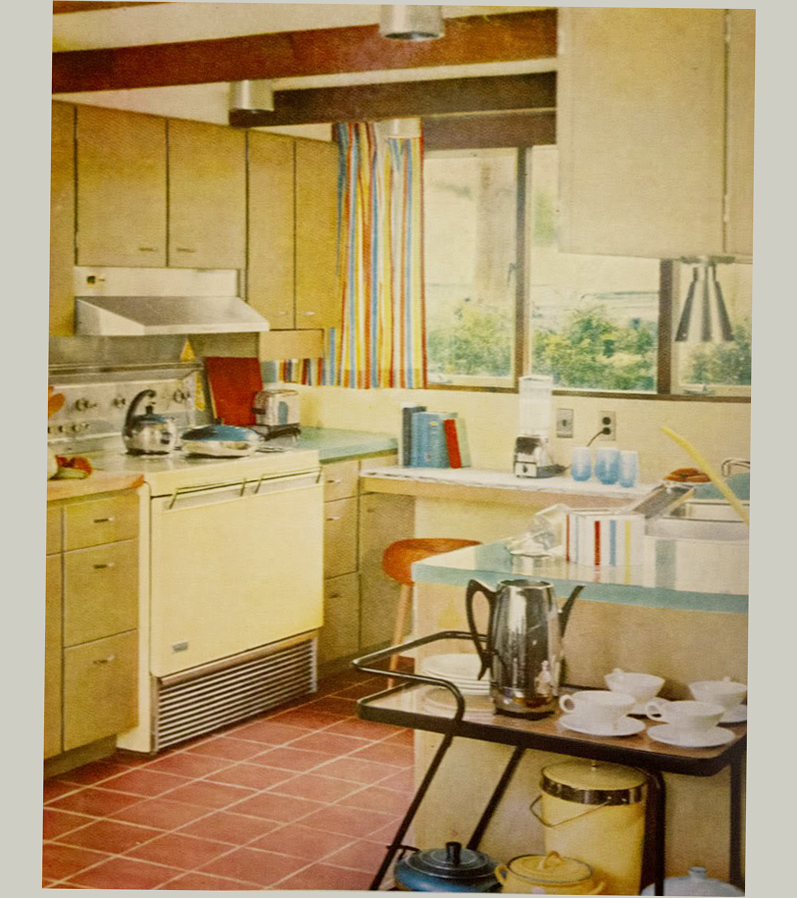 Mid century modern kitchens cabinets ellecrafts - Mid century modern kitchen cabinets ...