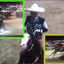 Cae del caballo el Gobernador de Chiapas Manuel Velasco durante evento de charreria y lo apodan #LadyCharro.