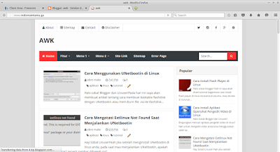 Selanjutnya kita coba akses domain tadi, jika berhasil maka akan muncul blog anda :p