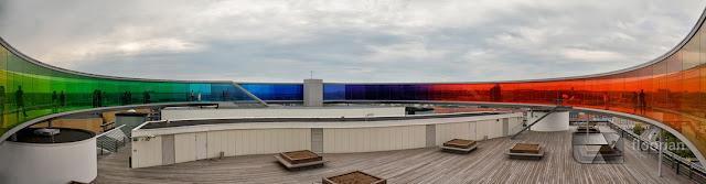 Panorama na szczycie Muzeum Sztuki Współczesnej ARoS