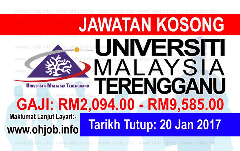 Jawatan Kerja Kosong Universiti Malaysia Terengganu (UMT) logo www.ohjob.info januari 2017