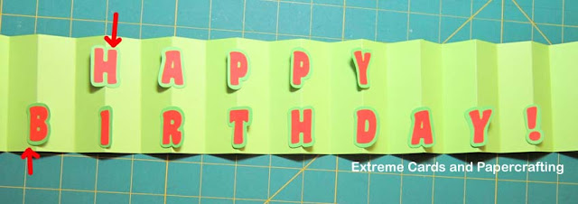 accordion fold card in a box letter placement