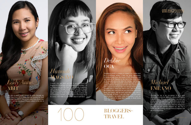 travel bloggers in Illustrado Magazine 100 MIFG 2018