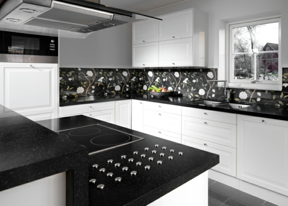 Fotos ideas para decorar casas - Cocina blanco y negro ...