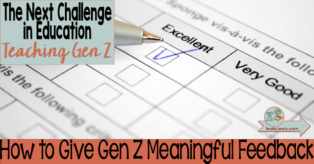 It's so frustrating to give our students feedback and then see no follow-through. Often, they're not dismissing us on purpose—they're simply not paying attention. Gen Z has learned this little trick for their own sanity. They are bombarded by so much on a daily basis. Click through to find out how to offer feedback they're likely to remember, and don't forget to download the free cheat sheet!