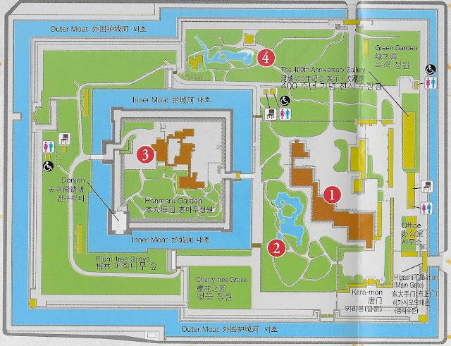 Plan du site du château Nijo de Kyoto