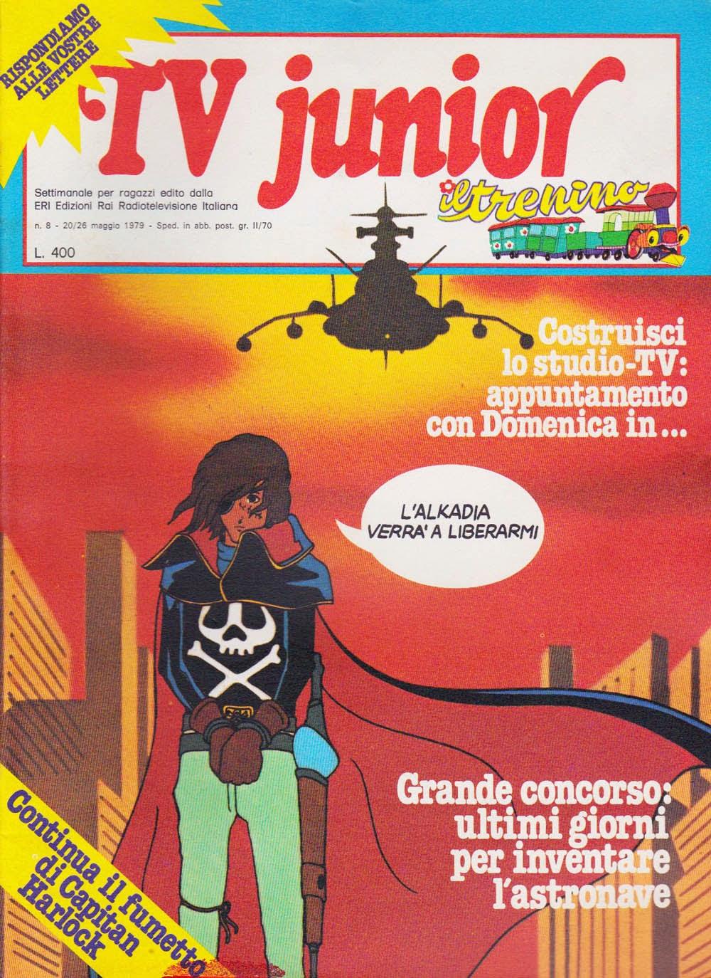 I fumetti italiani di capitan harlock