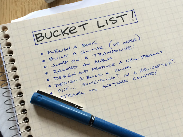 your own bucket list